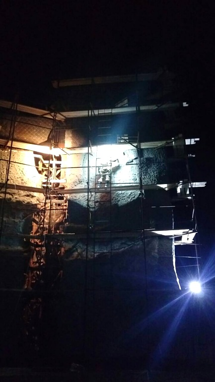 """Строительство скалодрома в детском лагере """"Горный"""", Байдарская долина, Крым, Россия, Фото 12."""