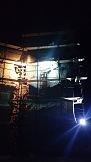 """Скалодром в детском лагере """"Горный"""", Байдарская долина, Крым, Россия. Картинка 12. Работы под открытым небом"""