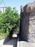 Скалодром. Фрагмент наружной стены с лестницей, внешний вид. Картинка 13. Работы под открытым небом