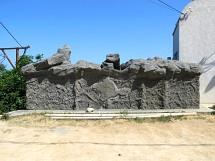 """Скалодром, """"Наш Крым"""" - фрагмент наружной отделки. Картинка 15. Работы под открытым небом"""