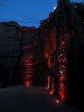 """Скалодром, """"Костер на стене"""". Вариант ночного освещения. Картинка 2. Работы под открытым небом"""