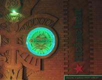 Ночные клубы Нео, Вуду Лонж, Слава и Кабана - элементы интерьера, Heineken green